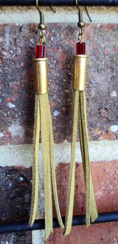 bullet earring, handmad earring, handmad bullet, bead bullet, bullet jewelri