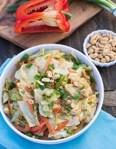 Stir-Fried Cabbage in Peanut Sauce