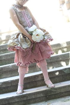 $375 costum, little girls, boutiques, marie antoinette, dress, party gowns, mari antoinett, flower girls, parti