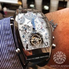 watchanish:  Arguably the most Complicated wristwatch in the world, the Franck Muller Aeternitas Mega 4. 1,438 parts and 36 complications in total (including 25 which are visible). A veritable horological monster.LiveFeed