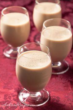 Irish Coffee Eggnog, with Irish cream and brandy