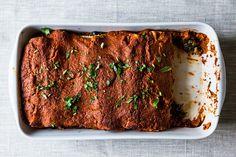 Wintry Mushroom, Kale, and Quinoa Enchiladas, a recipe on Food52