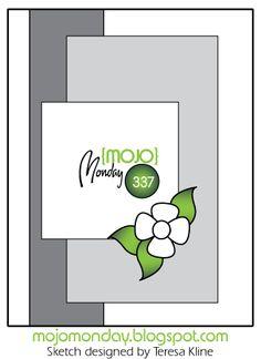 Mojo Monday #337 Card Sketch Designed by Teresa Kline #mojomonday #vervestamps #cardsketches