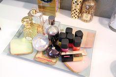 Julia Sloan decor, vaniti, presentation, makeup, bathrooms, display, beauti maven, beauty, organ beauti
