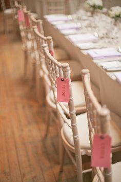 Place cards. Photography by nbarrettphotography.com