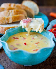 Double Melted Cheese and Red Pepper Dip