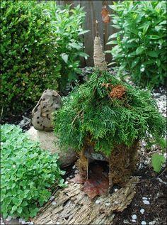 Fairy House--love the roof