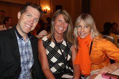 Shane Skillen of Hotspex, Michelle Adams of Marketing Brainology, and Caroline Winnett of NeuroFocus having a good time
