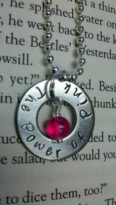 POWER of PINK Breast Cancer awareness stainless by McMakinDesigns, $5.00