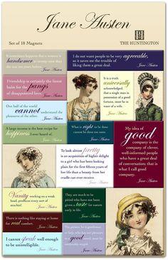 Jane Austen quotes- true then, true today One of my favorite ladies.