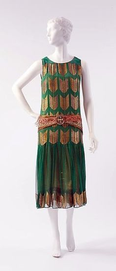 Poiret Dress - 1924-25 - by Paul Poiret (French, 1879-1944) - Silk, metallic thread - The Metropolitan Museum of Art