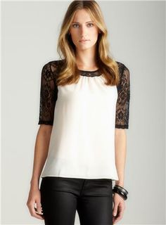 Elbow Lace Sleeve Blouse $39.99.