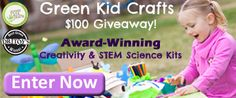 Enter the Green Kid Crafts $100 Giveaway, Plus Instantly collect a $5 code for entering! http://www.greenkidcrafts.com/green-kid-crafts-100-giveaway/