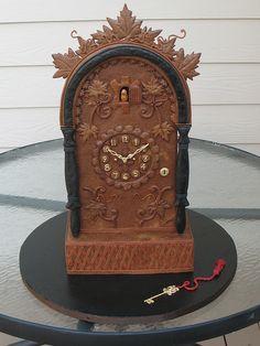 Gingerbread Clock by CakeArtNC, via Flickr