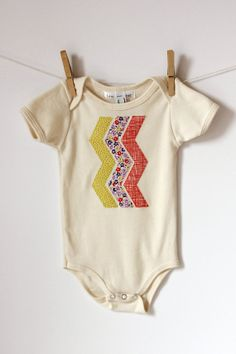 Chevron Onesie  This would be super cute for the baby shower theme! @Christi Spadoni Holt Tredway this is super cute boy/girl fabrics