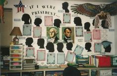 If I were President...Writing  Silhouettes of students on coins