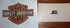 Harley Davidson Patterns Free | Harley Davidson Logo Cross Stitch http://debbiescrossstitch.blogspot ...