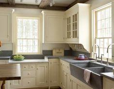 Traditional U-shaped kitchen, cream cabinets, Doug Gest,
