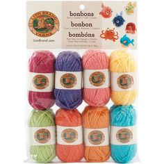 Grab your own package of Bonbons Yarn from Lion Brand to create a unique summer project that's bursting with color.