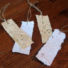 Seeded Paper Bookmark Eco-friendly Craft