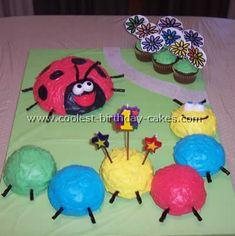 lili bug, ladybug cakes, birthday idea, caterpillar cake, bug theme