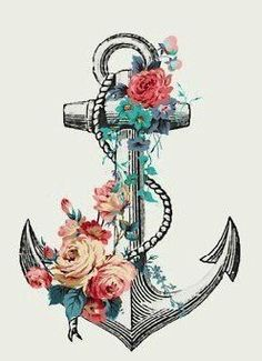 Oooh. I LOVE this. Anchor with flowers!