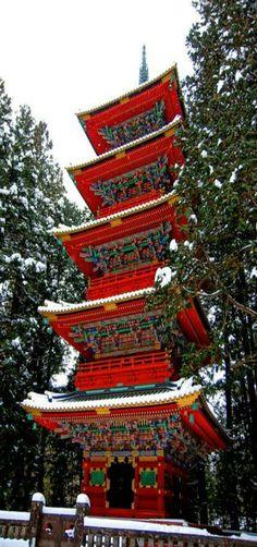 A tower of Nikko Toshogu. Nikko City ~ Tochigi Pref, Japan