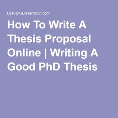 writing a good phd proposal