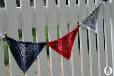 Make a banner out of bandanas.  Great idea for a cowboy or western theme party!