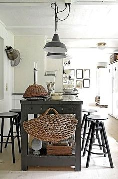 FleaingFrance Brocante Society Gorgeous kitchen combination. Open island