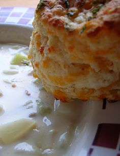 Boston Clam Chowder and Cheddar Bay Biscuits