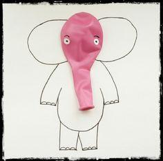 DIY Birthday Elephant Balloon Invite