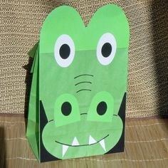 Alligator Birthday Party Favor Treat Sacks Reptile Swamp Crocodile Theme Goody Bags by jettabees on Etsy on Etsy, $15.00