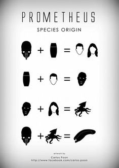 Prometheus Species Origin Inforgraphy
