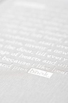 White Foil Stamp hardcover