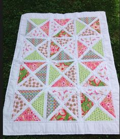 Baby Charm Square Quarter Square Triangle Quilt