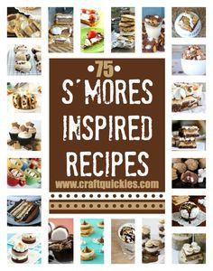 summer desserts, s'mores recipe, camping theme, dessert ideas, 75 amaz, amaz smore, cooking tips, smore recip, healthy desserts
