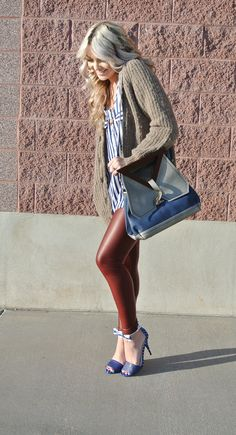 leather and slouchy sweater