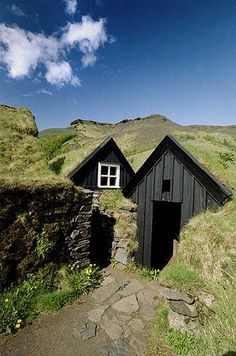 Primitive early house.....saw one in Iceland at a museum