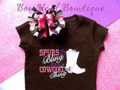 Spurs and Bling its a Cowgirl Thing  by BowHeadBowtiqueInc on Etsy, $28.00