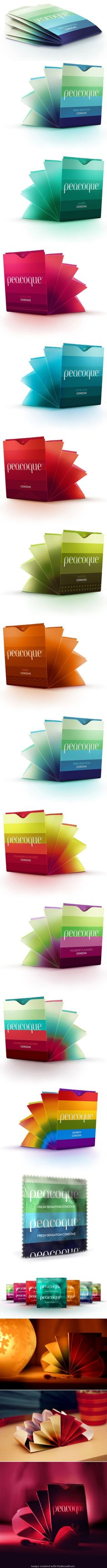 Peacoque - Innovative Condom Packaging by Petar Pavlov. Yes, it's true #2013 #toppin PD