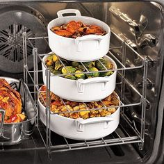 I need this! Multi-Tier Oven Rack...Smile