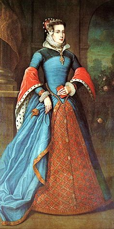 Mary Fitzalan, wife of Duke of Norfolk. I love the colors!
