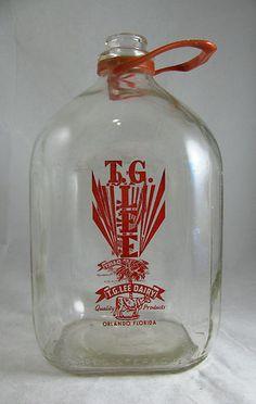 VINTAGE T.G. Lee Dairy One Gallon Glass Milk Jug Orlando Florida #vintage #leedairy #milkglass