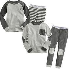 "Vaenait Baby Toddler Kid Boy Girl in Door Sleepwear Pajama Set""Basic Gray"" | eBay"