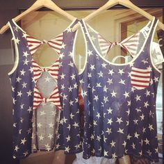 American bow back top!! #memorial day #july 4th #outfit