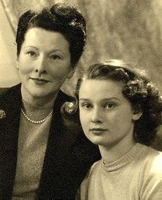 Ella and Audrey, spring of 1947