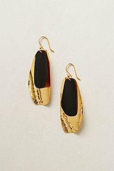 Hammered Feather Drops #anthropologie