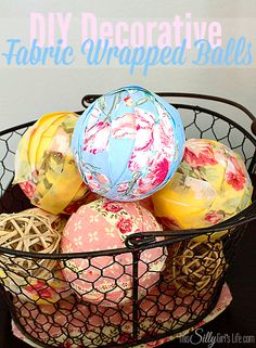 DIY Decorative Fabric Wrapped Balls