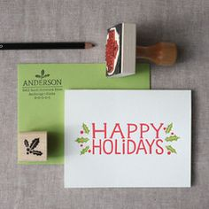 Happy Holidays Stationery Set from the chatty press!